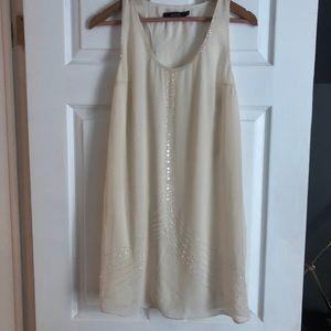 Ark & Co Sheath Dress Ivory Beaded